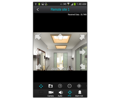 Screenshot camerabeeld IDIS Mobile