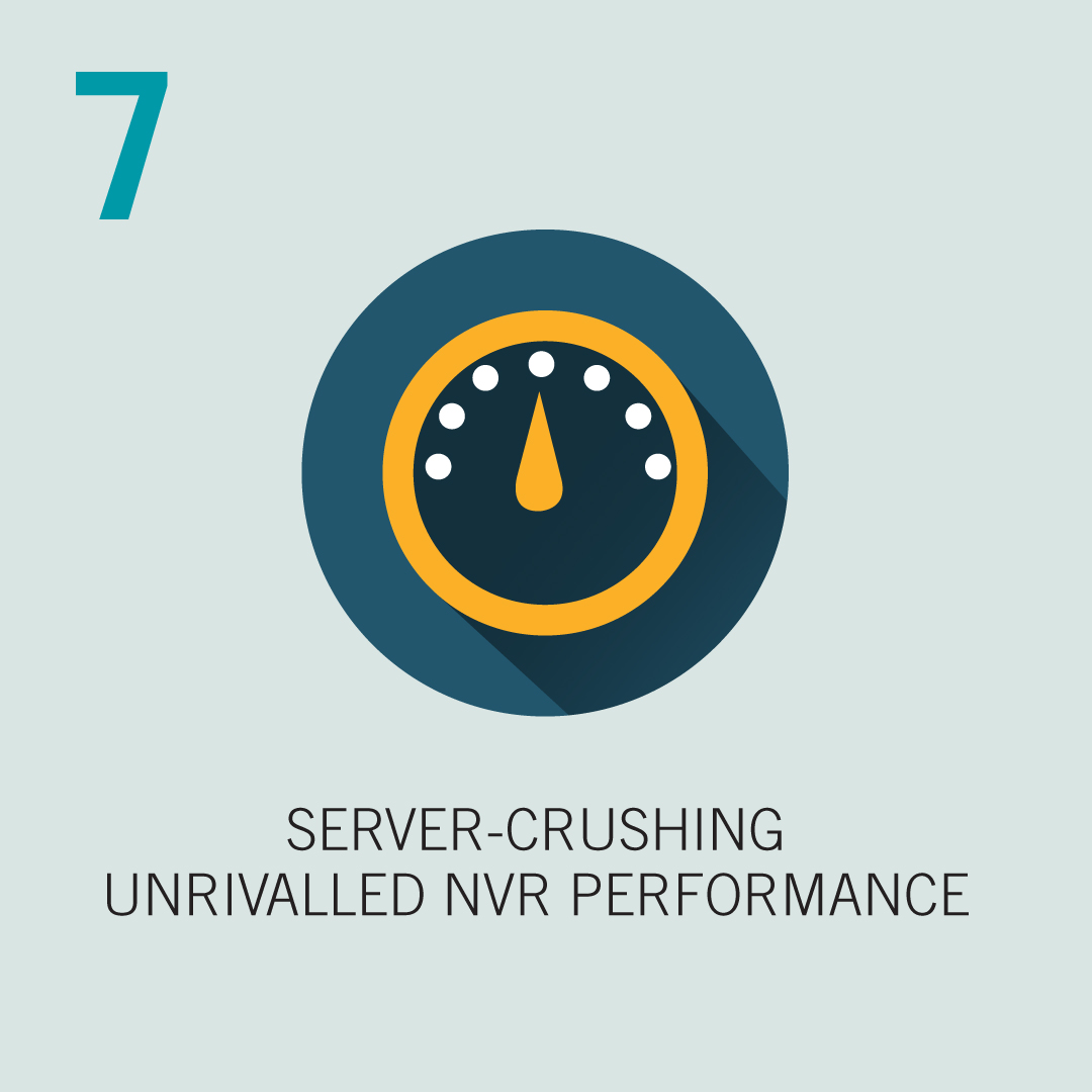 7: Server-Crushing, unrivalled NVR Performance